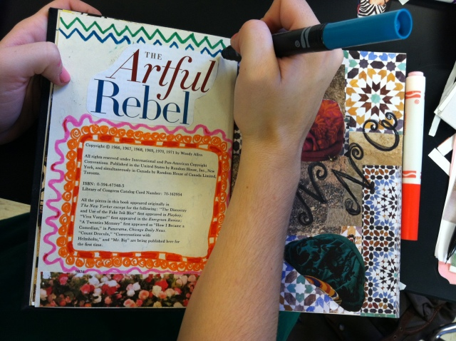An Altered Book being made by an Art I student 2012. Students in Art 1 and 2 will be making these books during the fall and spring semesters this school year!